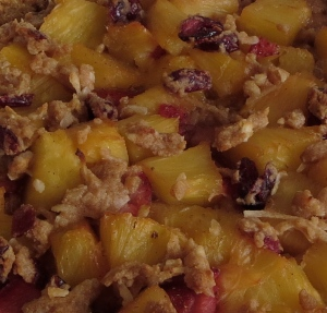 pie pineapple coconut strawberry cranberry graham cracker crust