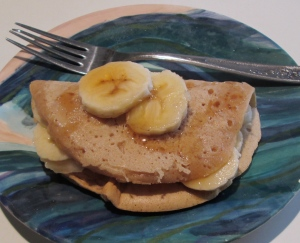 maple banana crêpe egg free