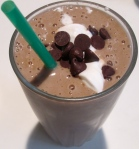 pear chocolate smoothie with choc chips and whip