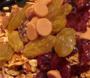 pumpkin peanut butter chip granola