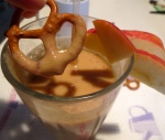 """fall fantasia"" caramel apple pretzel date raisin smoothie"
