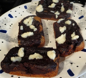 lemon and chocolate marble mini loaves cream cheese icing