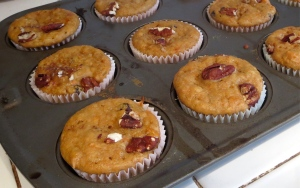 yam muffins currants pecans