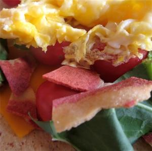 egg cheddar veggie bacon breakfast burrito easy