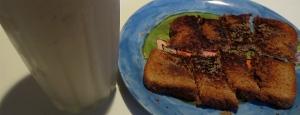apple cinnamon smoothie with cinnamon toast maple cranberries