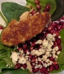 fruity spinach gardein salad