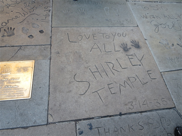Hollywood Shirley Temple signature