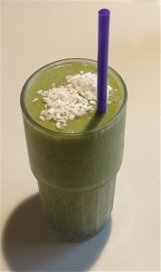green smoothie spinach coconut