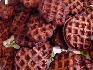 sunbeam mini waffles chocolate