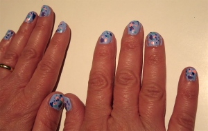 blue speckled egg nails