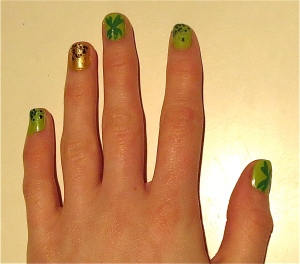 St. Patrick's Day nails 2014