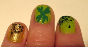 st. patrick's day 2014 nail design