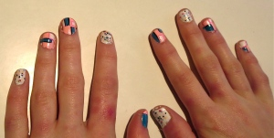 pop art nail design