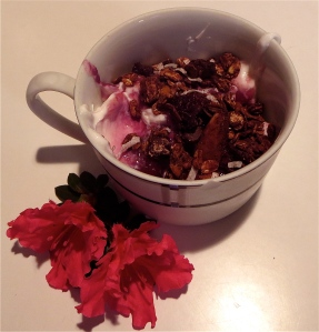 cherry almond chocolate coconut granola