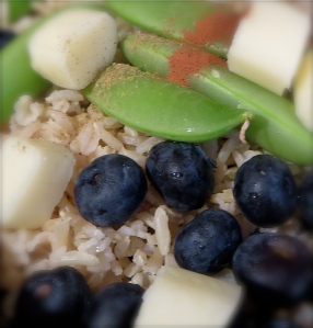 fruit and veggie rice salad