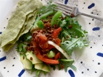 kale platter Mexican style vegan