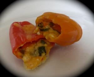 mediterranean stuffed sweet mini peppers