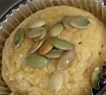 honey corn muffin with pumpkin seeds