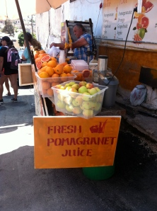 juice stand in Safed Israel