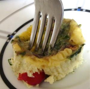 Italian veggie pesto cheese egg muffin