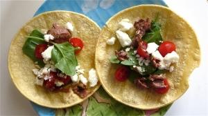 spinach feta tacos black bean hummus