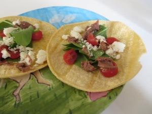 tacos feta spinach tomato bean dip corn tortilla