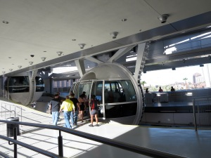 boarding the high roller las vegas