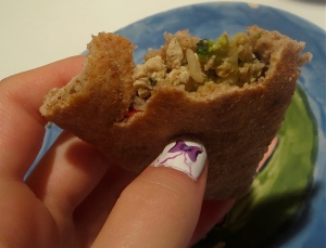 Asian Mediterranean pita wrap tofu scramble wrap frozen