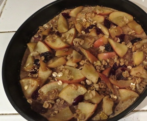 baked pancake apple crisp Great Grains crunchy pecan
