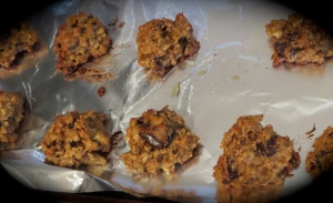 oatmeal chocolate chunk cookies banana bread currant walnut maple