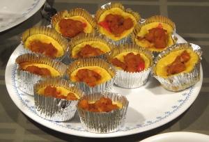 pumpkin spiced egg muffins chickpeas red pepper
