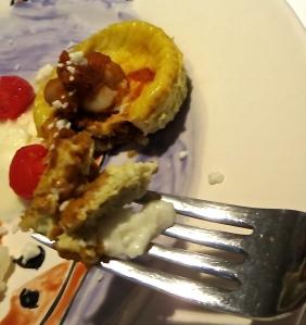 savory pumpkin sauce egg muffin chickpeas