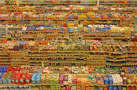 packaged food in market