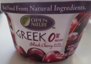 Open Nature Black Cherry Greek Yogurt