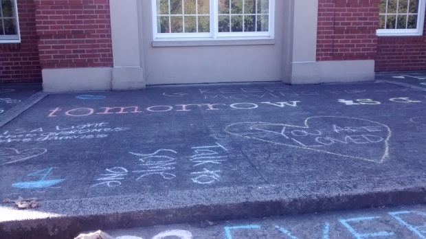 chalk inspiration quotes Linfield College McMinnville