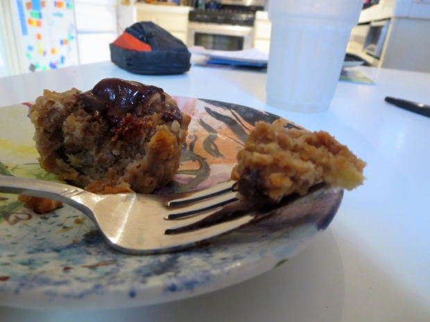 chocolate banana oatmeal healthy muffin recipe